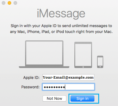 Sign in to iMessage on Mac
