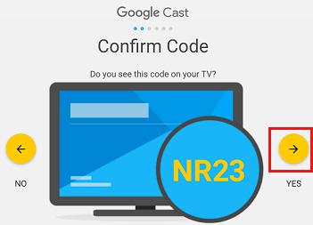 Chromecast Confirmation Code on Windows 10 Computer