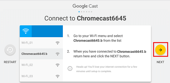 Connect Mac to Chromecast Screen During Setup Process