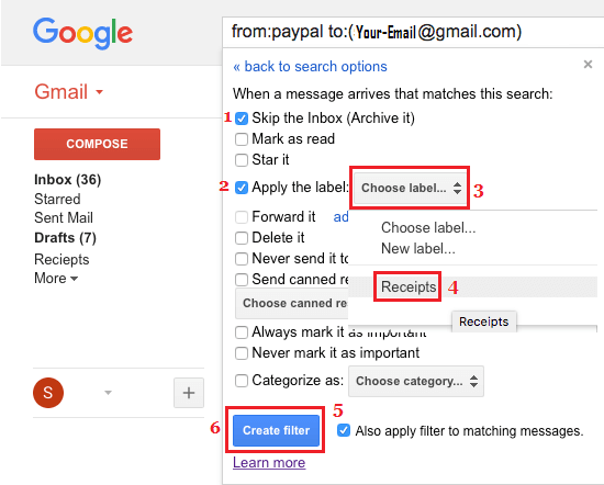 Create and Apply Filters to Specific Gmail Folders