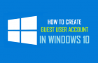 How to Create Guest User Account in Windows 10