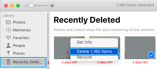 Delete All Recently Deleted Photos