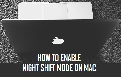 Enable Night Shift Mode on Mac