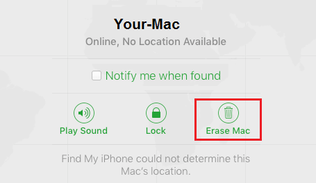 Erase Stolen or Lost Mac Using Find my Mac Service