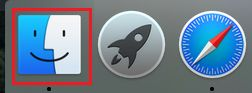 Finder Icon in the Dock on Mac