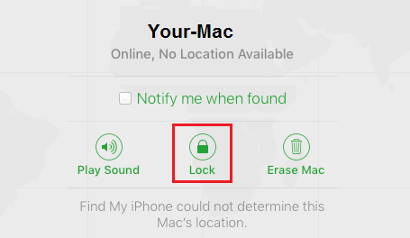 Lock Stolen or Lost Mac Using Find My Mac Service