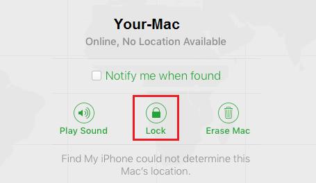Lock Stolen or Lost Mac Using Find My Mac Service