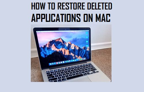 Restore Deleted Applications on Mac