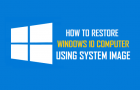 Restore Windows 10 Computer Using System Image