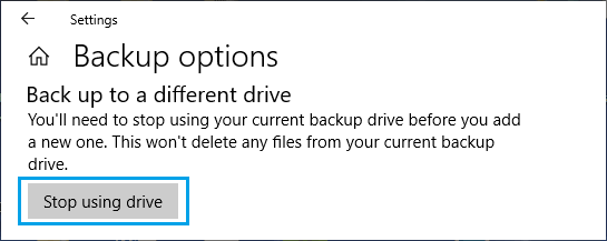 Stop Using Drive For Windows File History Backups