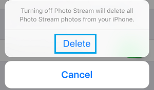 Delete Photo Stream Photos on iPhone
