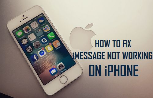 Fix iMessage Not Working On iPhone