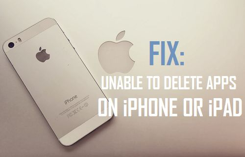 Fix: Unable to Delete Apps on iPhone or iPad