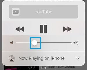 Adjust iPhone Sound Volume Using Control Center
