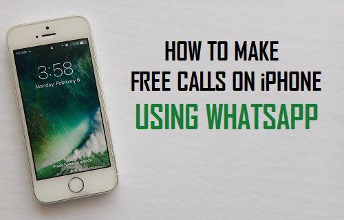 Make Free Calls On iPhone Using WhatsApp