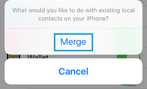Merge iCloud Contacts to iPhone