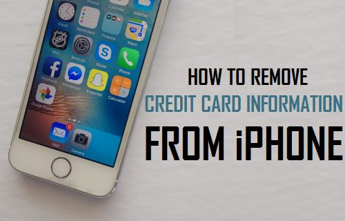 Remove Credit Card Information From iPhone