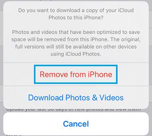 Remove iCloud Photos From iPhone