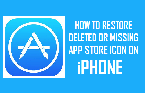Restore Deleted or Missing App Store icon on iPhone
