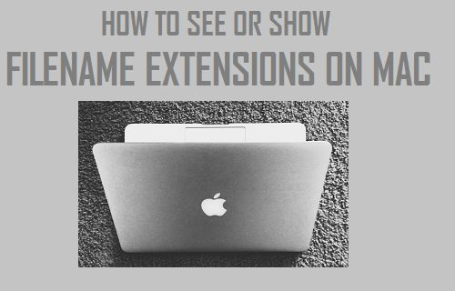 See or Show Filename Extensions on Mac