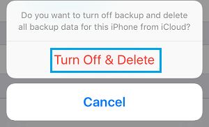 Turn Off and Delete iCloud Backup Pop-up on iPhone