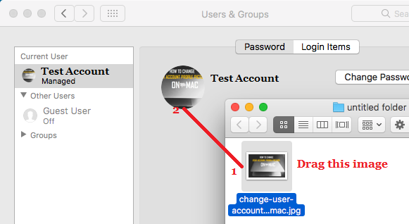Drag Image From Desktop or Folder On Mac as User Profile Image
