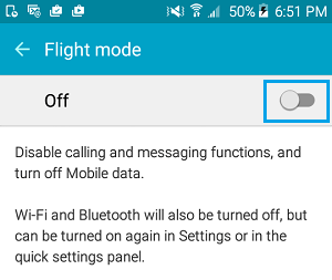 Disable Flight Mode On Android Phone
