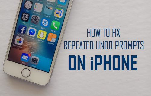Fix Repeated Undo Prompts On iPhone