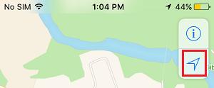 Location Arrow in iPhone Maps App