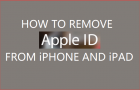 How to Remove Apple ID From iPhone and iPad