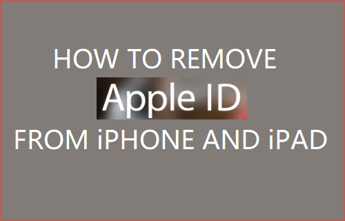 Remove Apple ID From iPhone and iPad