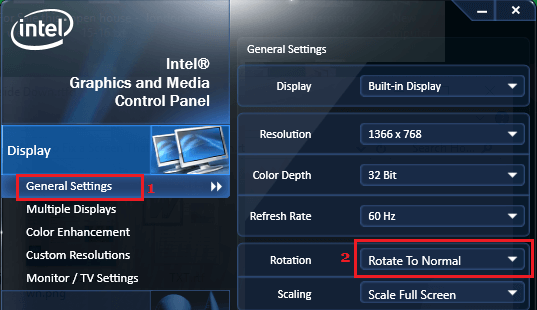 Graphics and Media Control Panel In Windows 10