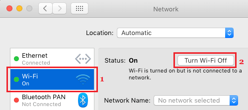 Turn OFF WiFi Network On Mac