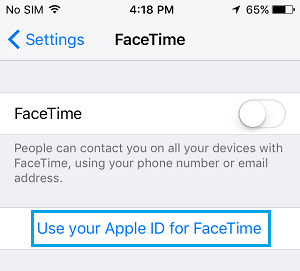 Use Your Apple ID for FaceTime on iPhone