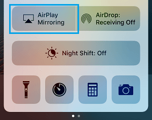 AirPlay Mirroring Option on iPhone