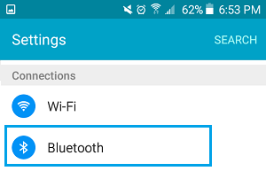 Bluetooth Option on Android Phone