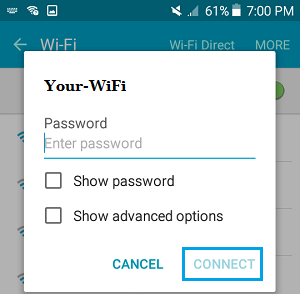 Connect to WiFi Network on Android Phone
