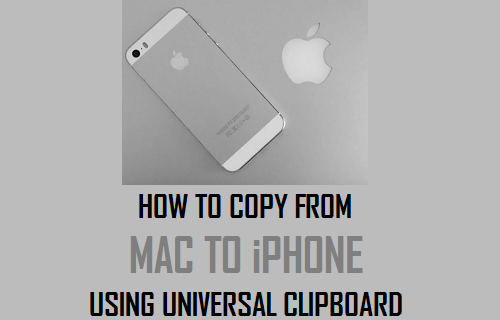 Copy From Mac to iPhone Using Universal Clipboard