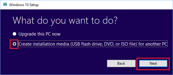 Create Installation Media (USB Flash Drive) For Another PC