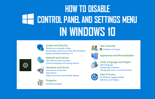 Disable Control Panel and Settings Menu in Windows 10