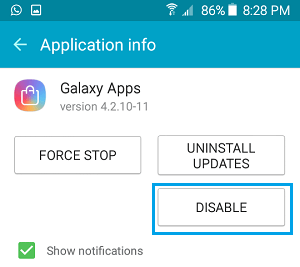 Disable Manufacturer Supplied App on Android Phone