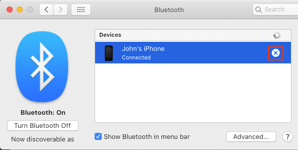 Disconnect Bluetooth Device From Mac