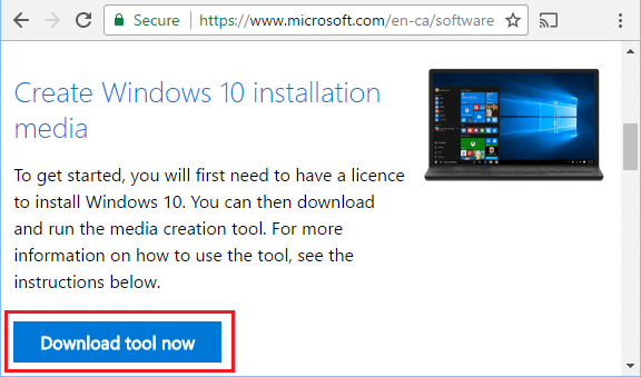Download Windows Media Creation Tool From Microsoft