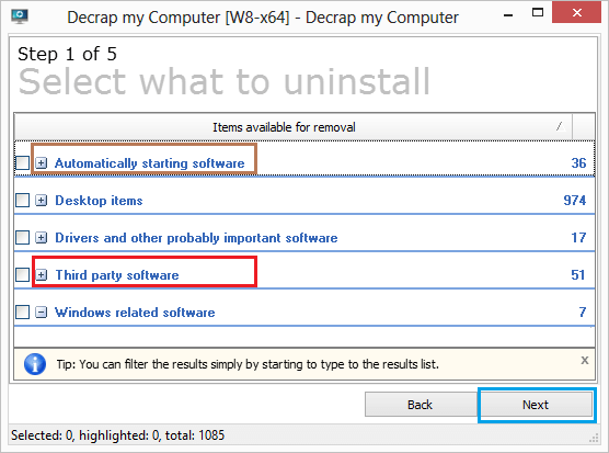 Choose Bloatware Programs to Uninstall From Computer