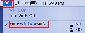 Connect to WiFi Network on Mac