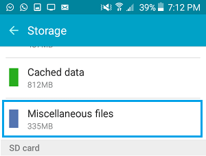 Delete Miscellaneous Files From Android Phone Storage
