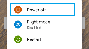 Power OFF & Restart Option on Android Phone