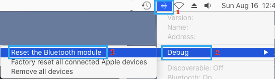 Reset Bluetooth Module on Mac