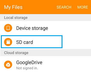 Local Storage on Android Phone