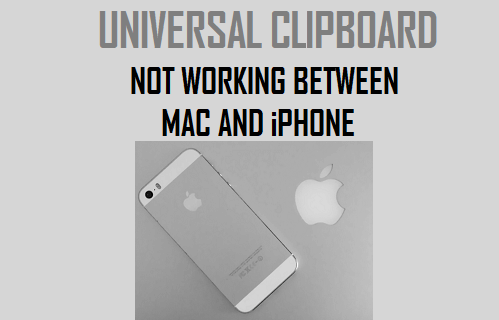 Universal Clipboard Not Working Between Mac and iPhone